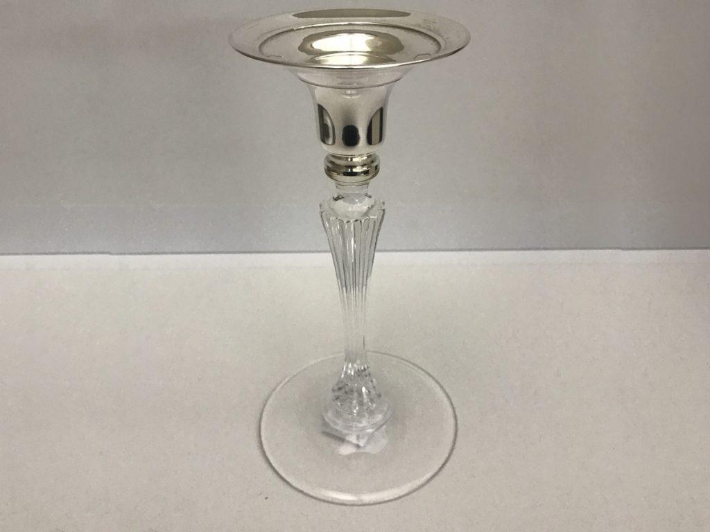 Porta candela in vetro e argento cambio oro for Porta candela